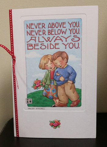 Always Beside You Anniversary Card