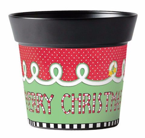 "Merriment Christmas 6"" Pot"