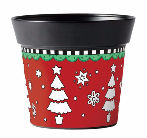 "Christmas Tidings 6"" Art Pot"