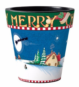 "Merry Christmas 12"" Planter"