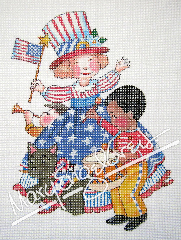 Needlepoint Canvas: Americute!