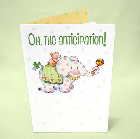 The Anticipation Baby Shower Card