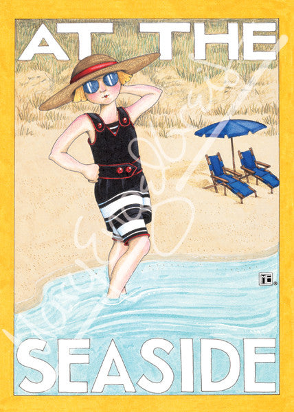 At the Seaside Greeting Card