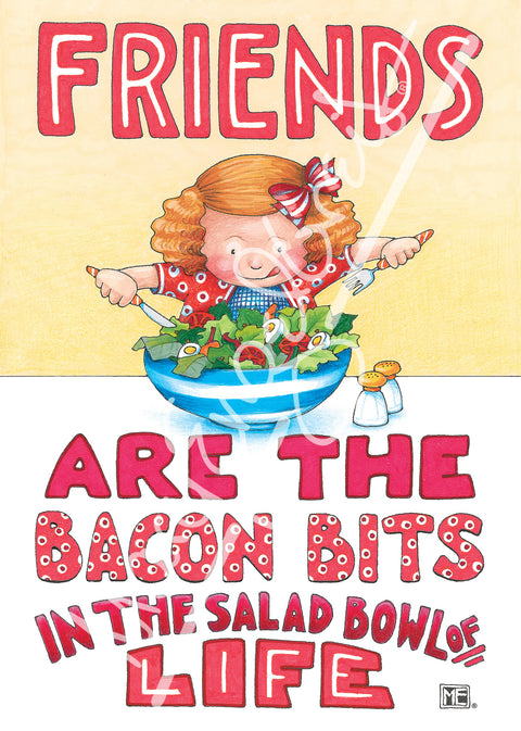 Bacon Bits Greeting Card