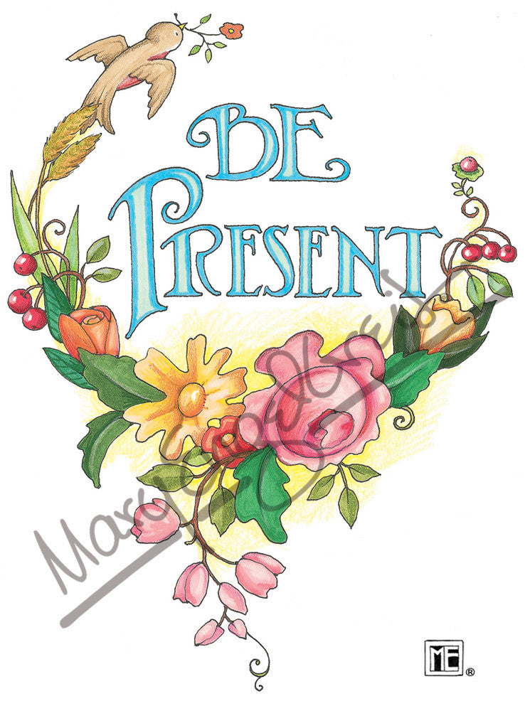 be present magnet - Mary Engelbreit Coloring Book