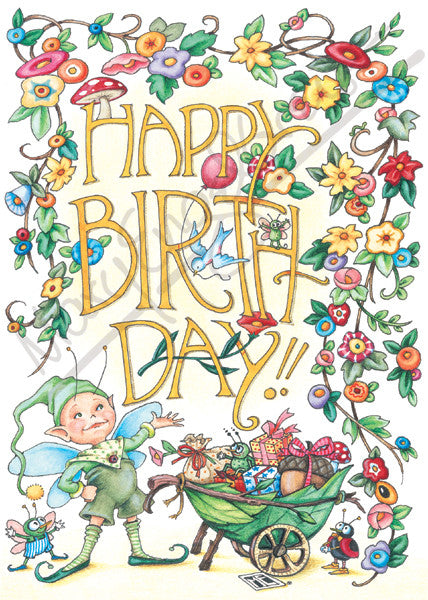 Birthday Bugs Greeting Card