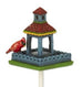 Mini Blue Birdfeeder with Cardinal