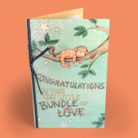 Bundle of Love - New Baby Card