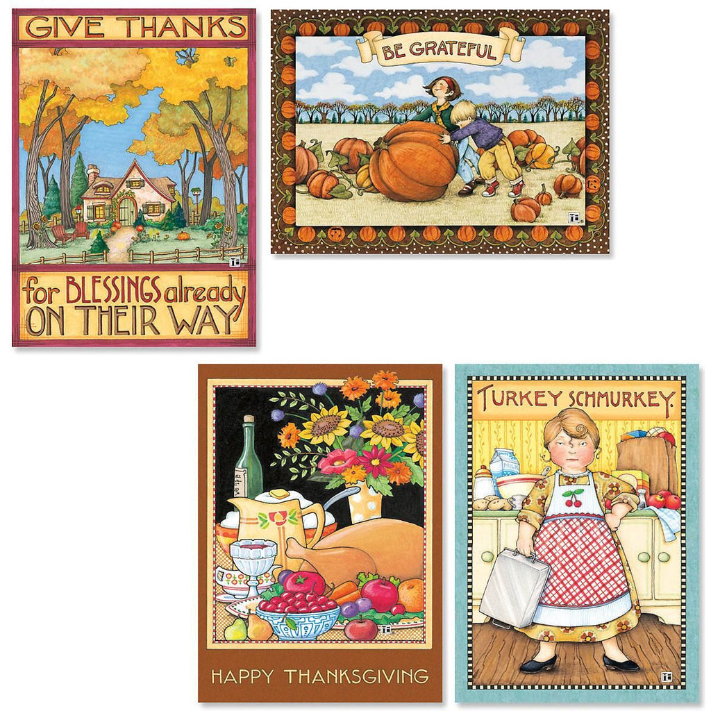 Thanksgiving Greeting Card Bundle,  8 assorted