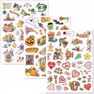All Year Holiday Stickers