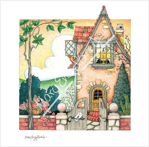 Cottage with Candle Limited Edition Print