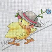 Needlepoint Canvas: Chick with Hat