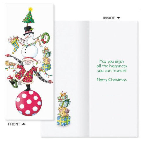 Christmas Card-NEW w//decorated envelope Mary Engelbreit-BABY IT/'S CHRISTMAS!
