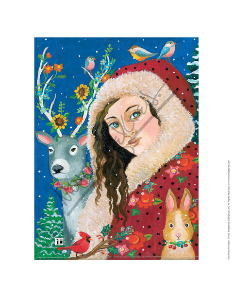Christmas Princess Fine Art Print
