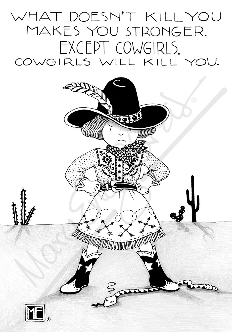 Cowgirls Magnet