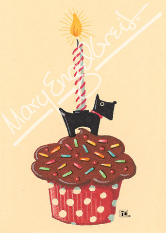 Cupcake Scottie Greeting Card