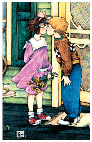 First Kiss Romantic Card