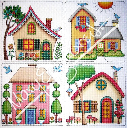 Needlepoint: Four Houses