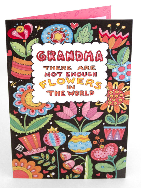 Not Enough Flowers For Grandma Mother's Day Card