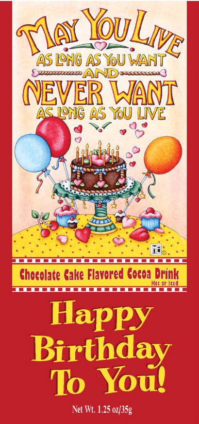 Happy Birthday Chocolate Cake Cocoa Packet Mary Engelbreit