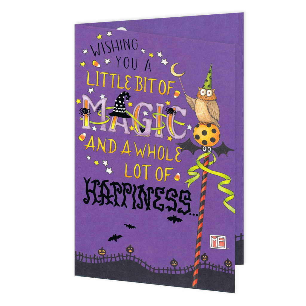 Little Bit of Magic Halloween Greeting Card