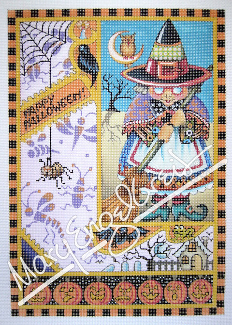 Needlepoint Canvas: Happy Halloween