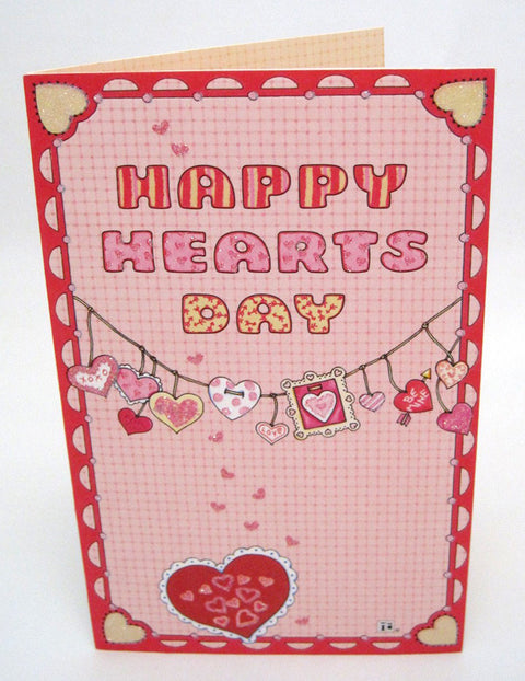 Happy Hearts Day Valentine's Day Card