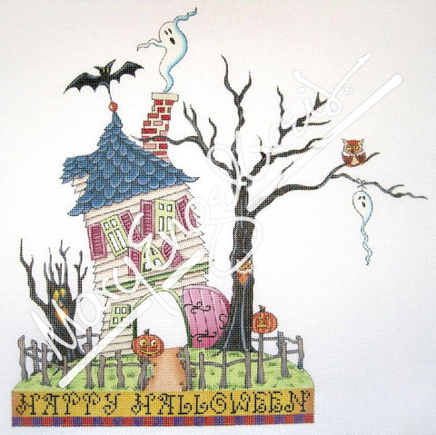 Needlepoint Canvas: Haunted House