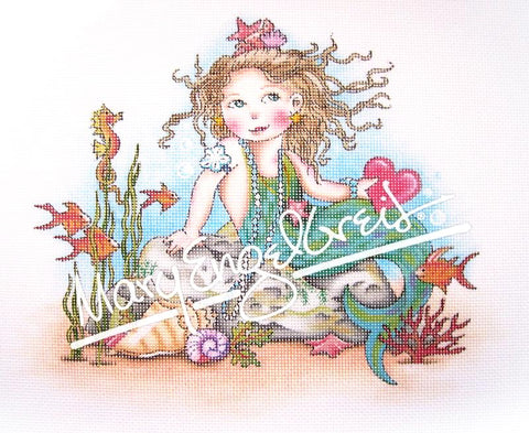 Needlepoint Canvas: Heart Mermaid