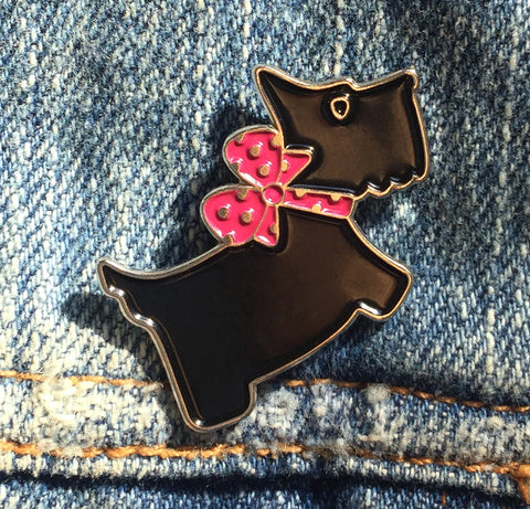 Scottie Dog Enamel Art Pin