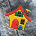 Cozy Cottage Enamel Art Pin
