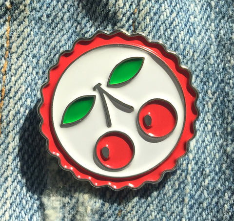 Cherries Enamel Art Pin