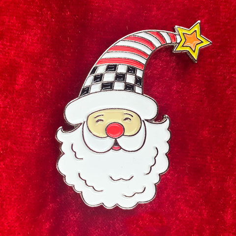 Santa Enamel Art Pin