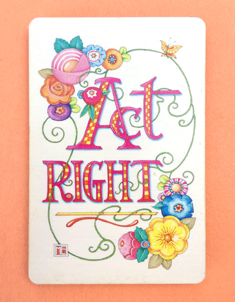 Act Right Wooden Magnet