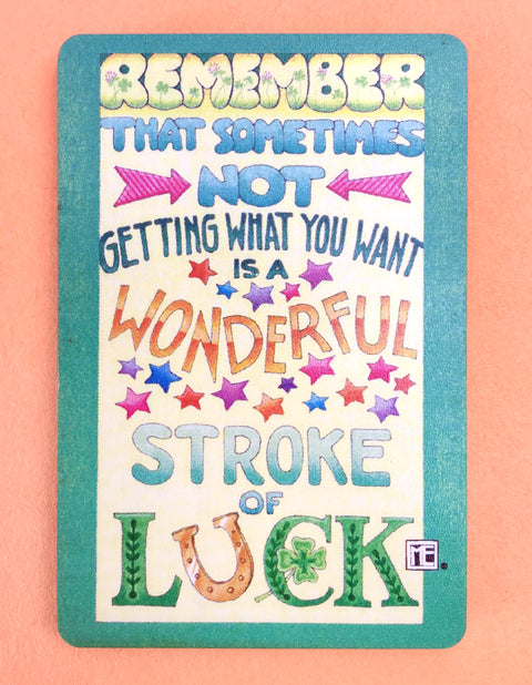 Stroke of Luck Wooden Magnet
