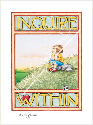 Inquire Within Limited Edition Print