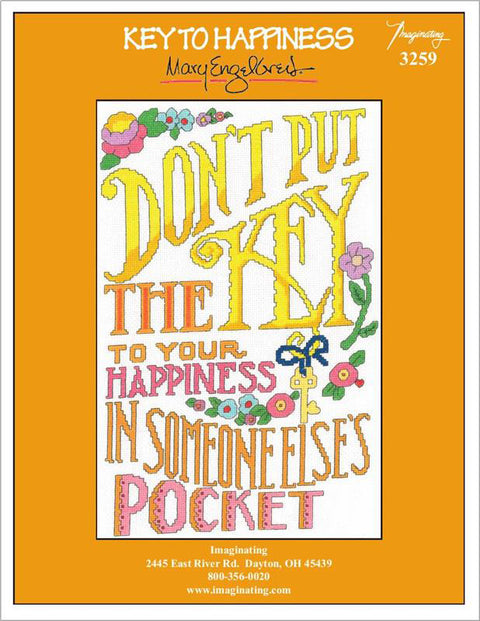 Key to Happiness Counted Cross Stitch Leaflet