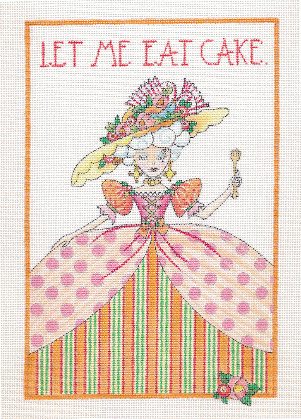 Needlepoint Canvas: Let Me Eat Cake