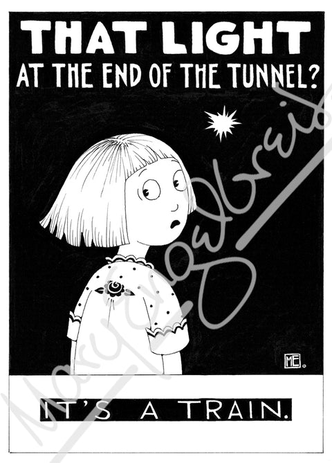 Light at the End of the Tunnel Engeldark Card