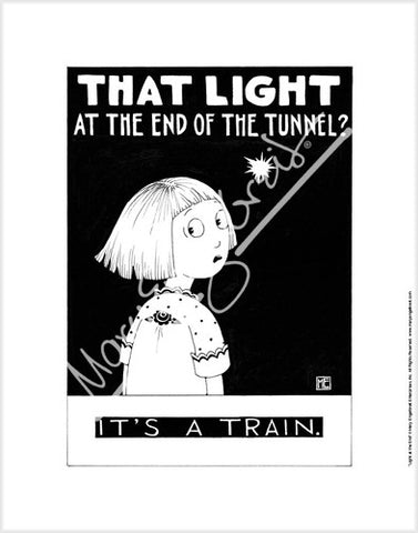 Light at the end of the tunnel Fine Print