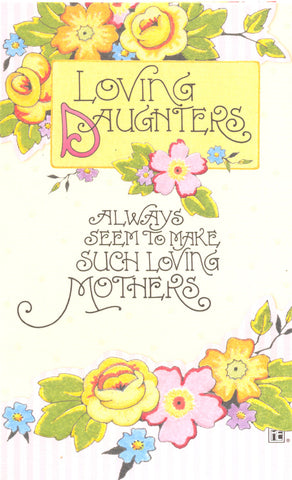 Loving Daughter Mother's Day Card