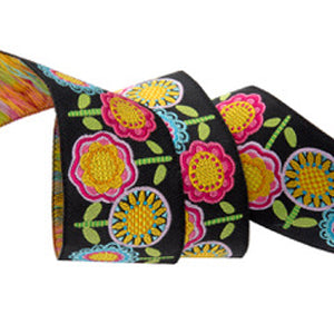 Hippie Flower Row Ribbon