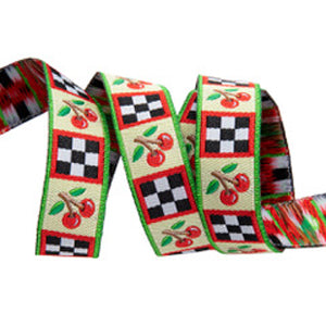 Cherry and Checks Ribbon