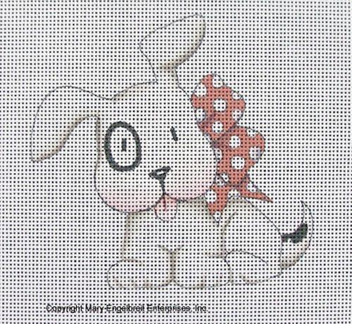 Needlepoint Canvas: Black Eyed Dog