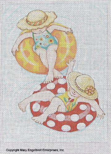 Needlepoint Canvas: Inner Tube Girls