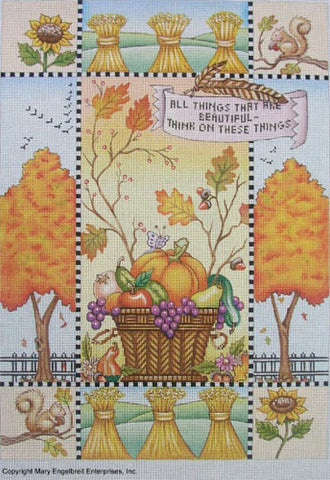 Needlepoint Canvas: All Things Beautiful