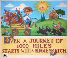 Needlepoint Canvas: Forty Years Journey