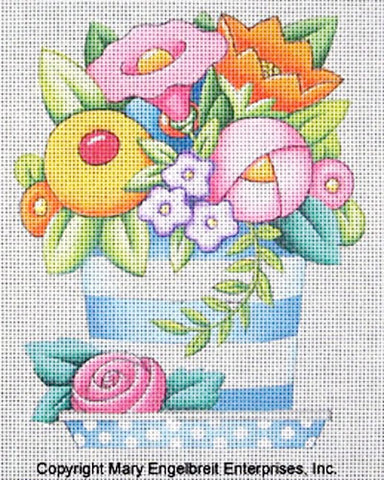 Needlepoint Canvas: Little Flower Pot