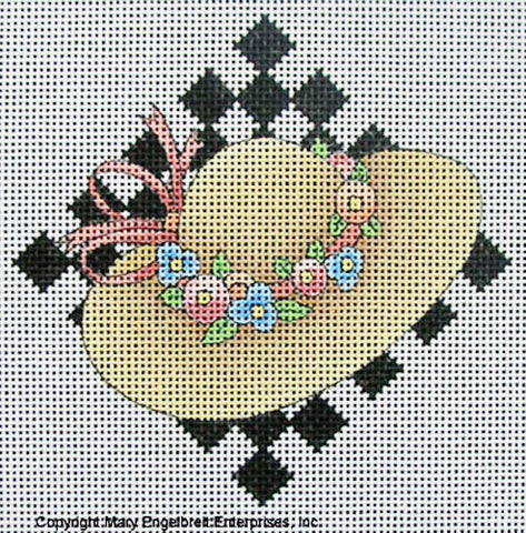 Needlepoint Canvas: Straw Hat