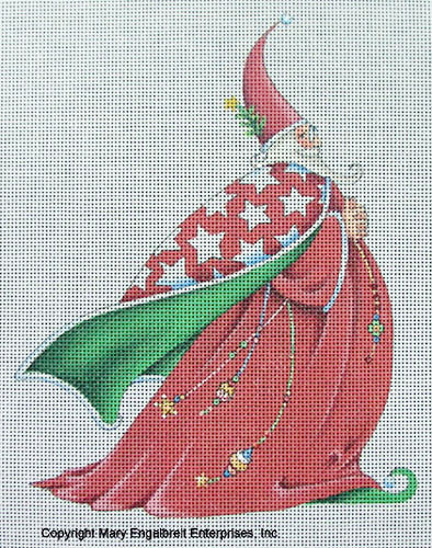 Needlepoint Canvas: Wizard Santa
